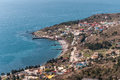 Katsively village on the southern shore of the black sea in crimea Stock Photo