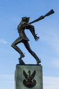 Katyn massacre memorial in Jersey City at Hudson River front Stock Photo