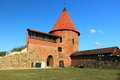 Kaunas castle the ruins of in lithuania Royalty Free Stock Photos