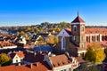 Kaunas cathedral basilica aerial view Royalty Free Stock Photo
