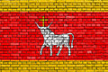 Kaunas flag of painted on brick wall Royalty Free Stock Images