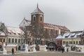 Kaunas, Lithuania - January 3, 2016: Cathedral Basilica of Saint Royalty Free Stock Photo