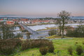 Kaunas lithuania panorama of city from aleksotas hill Royalty Free Stock Photography
