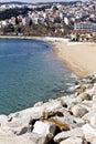 Kavala summer resort at Greece Stock Photo