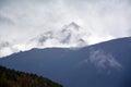 Kawa karpo snow mountains with cloud in sky shangri la china Stock Photos