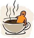 Kawa w wannie Fotografia Royalty Free