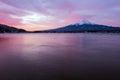 Kawaguchiko lake and mt.Fuji Royalty Free Stock Photo
