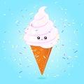 конус kawaii мороженого Стоковые Фотографии RF