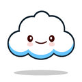 Kawaii cartoon white emoticon cute cloud.