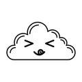 Kawaii cloud cartoon