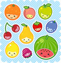 Kawaii fruits Royalty Free Stock Images