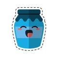 Kawaii jar glass jam tasty cut line