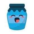Kawaii jar glass jam tasty