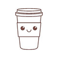kawaii plastic cup coffee beverage portable cap