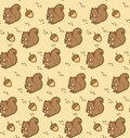 Kawaii squirrel with acorn seamless pattern