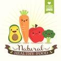 Kawaii Vegetable Cartoon Chara...