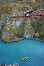 Kawarau Bridge in South New Zealand. Royalty Free Stock Photos