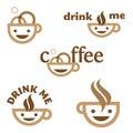 Kawowy napój emblem ja Zdjęcia Royalty Free