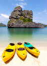 Kayak on the beach Royalty Free Stock Photo