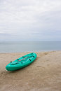 Kayak on the beach Royalty Free Stock Photo