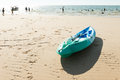 Kayak on beach Royalty Free Stock Photo