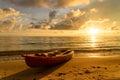 Kayak on a beach Royalty Free Stock Photo