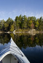 Kayak on Calm Lake Stock Photography