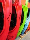 Kayak a close up of colorful kayaks Royalty Free Stock Images