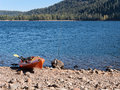 Kayak, Donner Lake, California Royalty Free Stock Photo