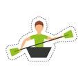 Kayak extreme sport icon