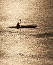 Kayak Silhouette Royalty Free Stock Photo