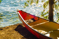Kayak by the water kayaks standing lake Stock Photography