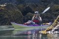 Kayaker in Humpy Cove Royalty Free Stock Photo