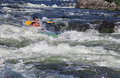 Kayaker in whitewater Royalty Free Stock Photo