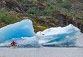 Kayakers at Mendenhall Glacier Royalty Free Stock Photo