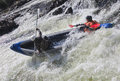 Kayakers in whitewater Royalty Free Stock Photo