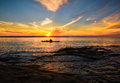 Kayaking Lake Superior in Summer, Michigan Royalty Free Stock Photo