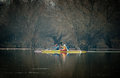 Kayaking on the river Royalty Free Stock Photo