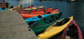 Kayaks and Canoes for Rent Ontario Canada. Royalty Free Stock Photos