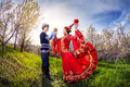 Kazakh dancing Royalty Free Stock Photo