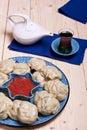 Kazakh or Uzbek dish - manti Royalty Free Stock Image