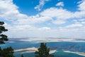 Kazakhstan lakes picturesque natural landscape of blue Royalty Free Stock Photo