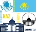 Kazakhstan vector illustration eps Royalty Free Stock Photo