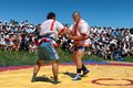 Kazaksha kyres the national wrestling in kazakhstan lepsinsk almaty region jul competitions during festival Royalty Free Stock Photo
