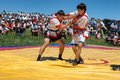 Kazaksha kyres the national wrestling in kazakhstan lepsinsk almaty region jul competitions during festival Royalty Free Stock Photos