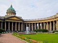 Kazan cathedral in saint petersburg kazanskiy kafedralniy sobor russia Royalty Free Stock Photos