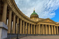 Kazan cathedral saint petersburg russia or kazanskiy kafedralniy sobor on the nevsky prospekt in it is dedicated to our lady of Royalty Free Stock Photography