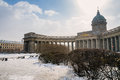 Kazan cathedral in st petersburg view of the russia during winter time Stock Images