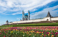 Kazan Kremlin and Kul-Sharif mosque, Tatarstan, Russia Royalty Free Stock Photo
