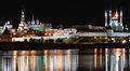 Kazan Kremlin by night Royalty Free Stock Photo